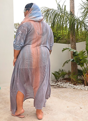 Netted Hoodie Cover Up