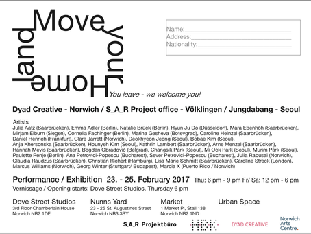 """""""Move Your Homeland"""" exhibition in Norwich, UK"""