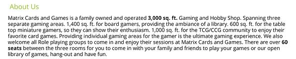 Matrix Cards & Games Content
