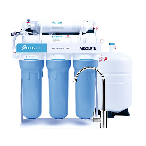 Reverse Osmosis 5 Stages w/ Pump, 50 GPD Absolute [ECO-RO-550-P], by ECOSOFT