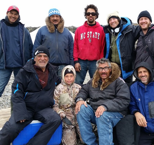 The Team w the Inuit Guides in the Arcti