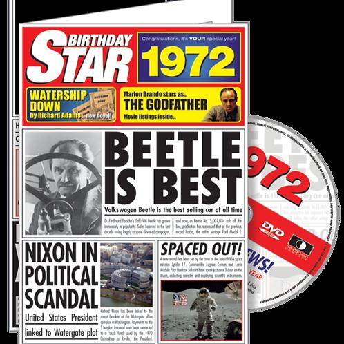 1972 Birthday Star Greeting Card with DVD