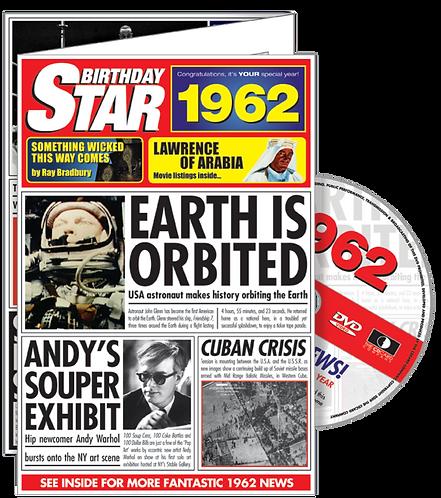 1962 Birthday Star Greeting Card with DVD