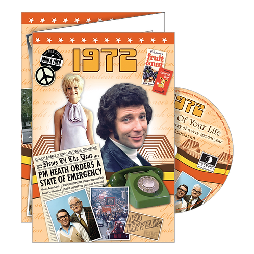 1972 Year Of Birth Greeting Card with DVD