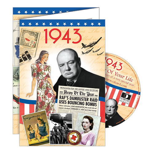 1943 Year Of Birth Greeting Card with DVD