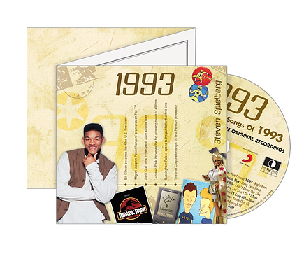 1993 Classic Years - Year Of Birth Music Downloads Greeting Card + Retro CD