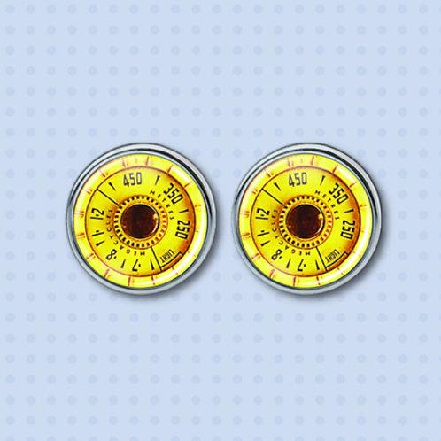 Vintage Radio Dials: Yellow/Black/Gold