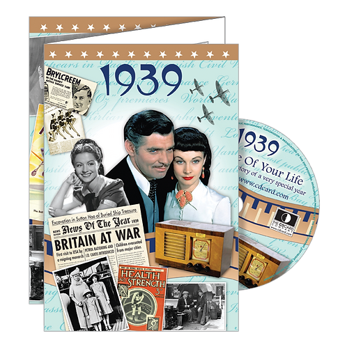 1939 Year Of Birth Greeting Card with DVD