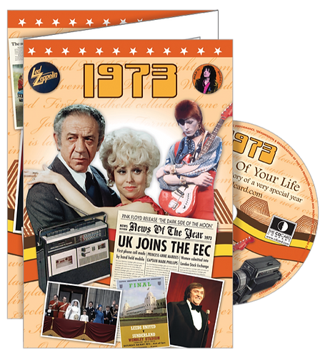 1973 The Time of Your Life Greeting Card with DVD