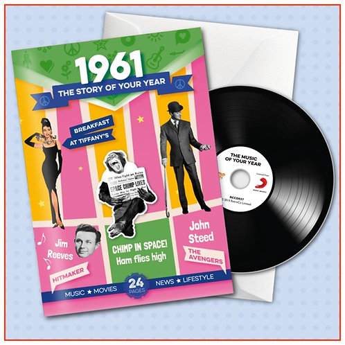 1961 Booklet Card with CD and music download