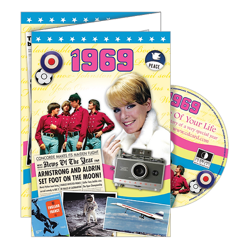 1969 Year Of Birth Greeting Card with DVD