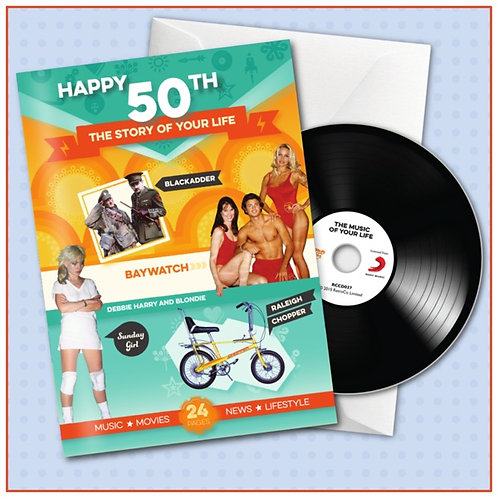 Happy 50th Booklet Card with CD and Music Download