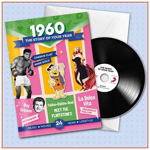 1960 Booklet Card with CD and music download