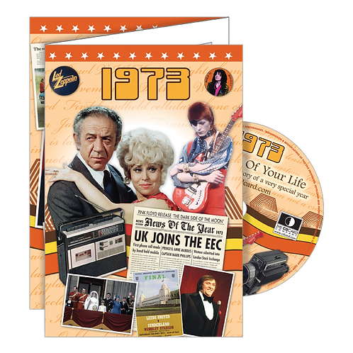 1973 Year Of Birth Greeting Card with DVD