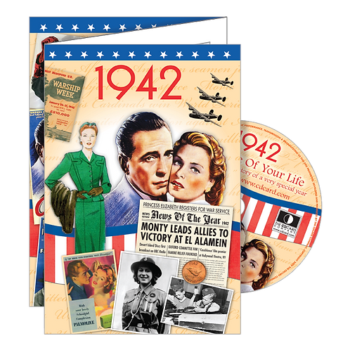 1942 Year Of Birth Greeting Card with DVD