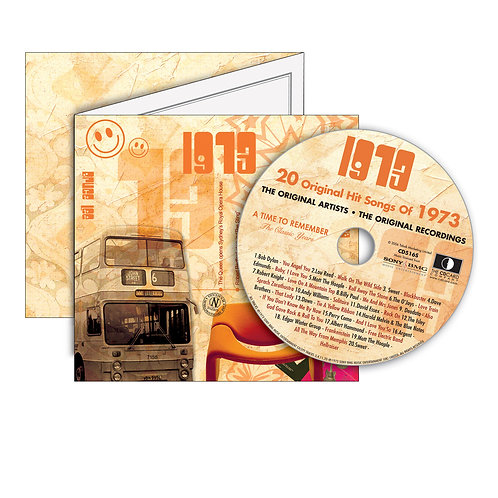 1973 Classic Years - Year Of Birth Music Downloads Greeting Card + Retro CD