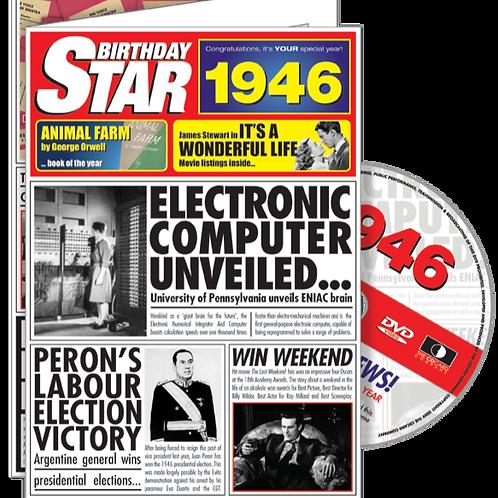 1946 Birthday Star Greeting Card with DVD
