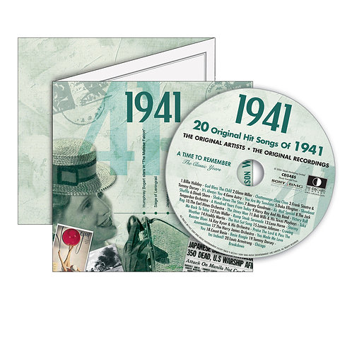 1941 Classic Years - Year Of Birth Music Downloads Greeting Card + Retro CD