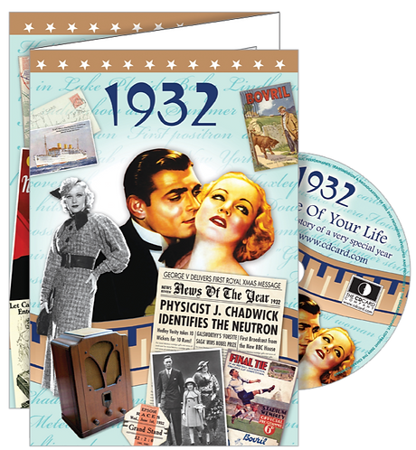 1932 The Time Of Your Life Greeting Card with DVD