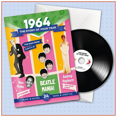 1964 Booklet Card with CD and music download