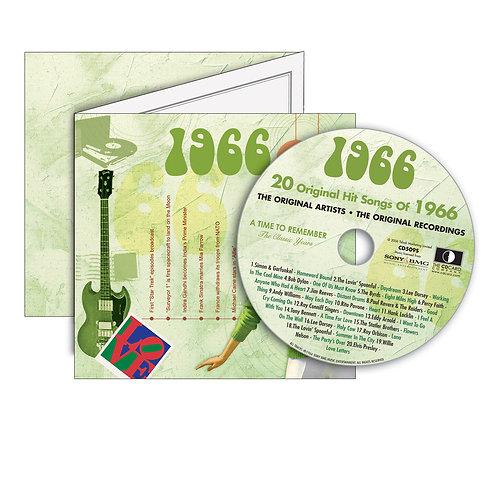 1966 Classic Years - Year Of Birth Music Downloads Greeting Card + Retro CD