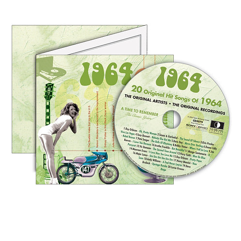 1964 Classic Years - Year Of Birth Music Downloads Greeting Card + Retro CD