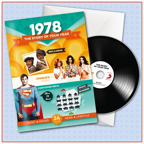 1978 Booklet Card with CD and music download