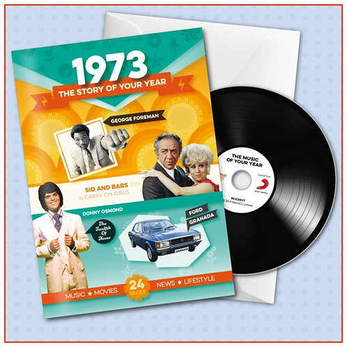 1973 Booklet Card with CD and music download