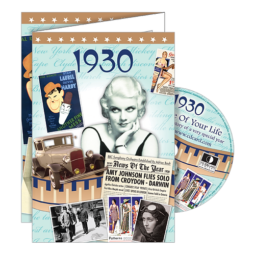 1930 The Time Of Your Life - Year Of Birth Greeting Card with DVD