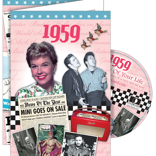 1959 The Time Of Your Life Greeting Card with DVD
