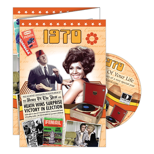 1970 Year Of Birth Greeting Card with DVD