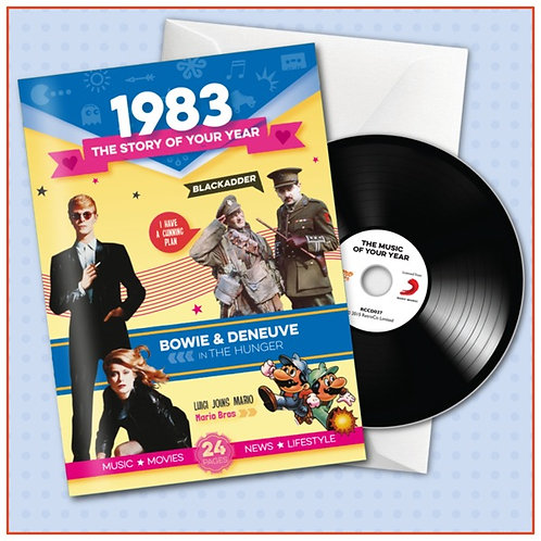 1983 Booklet Card with CD and music download