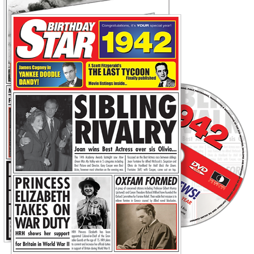 1942 Birthday Star Greeting Card with DVD