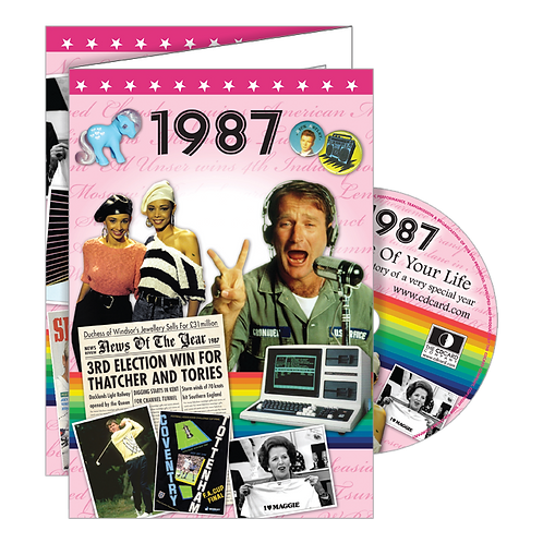1987 Year Of Birth Greeting Card with DVD