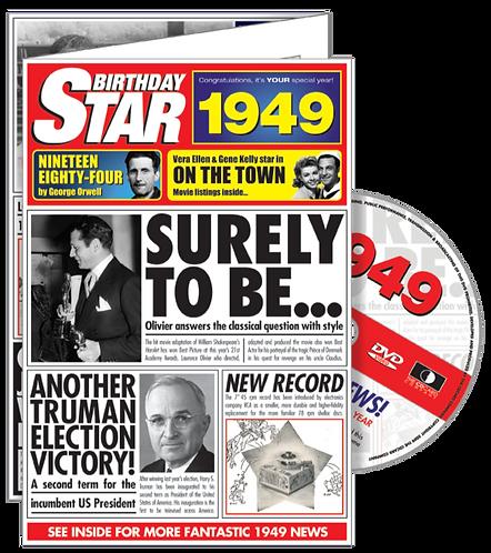 1949 Birthday Star Greeting Card with DVD