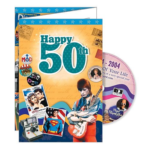 50th Birthday Greeting Card with DVD