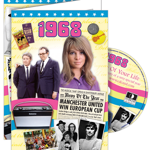 1968 The Time Of Your LIfe Greeting Card with DVD