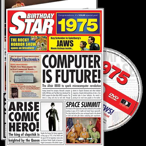 1975 Birthday Star Greeting Card with DVD