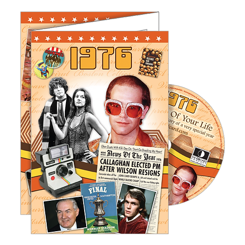 1976 Year Of Birth Greeting Card with DVD