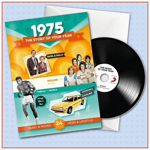 1975 Booklet Card with CD and music download