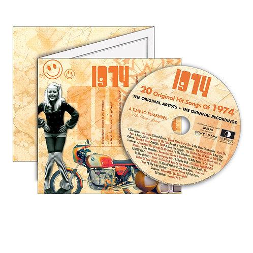 1974 Classic Years - Year Of Birth Music Downloads Greeting Card + Retro CD
