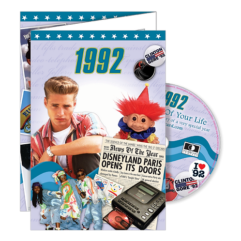 1992 The Time Of Your Life - Year Of Birth Greeting Card with DVD