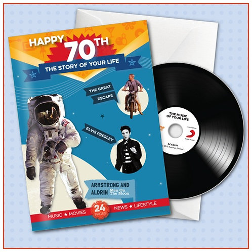 Happy 70th Booklet Card with CD and Music Download