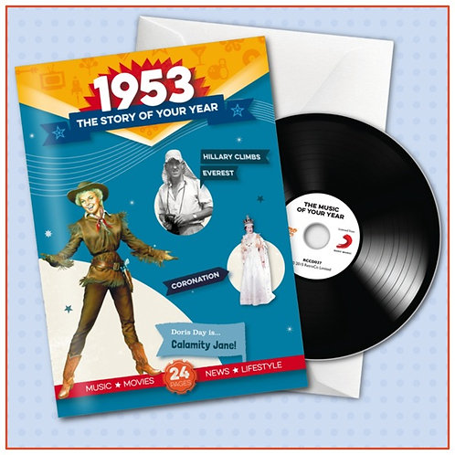 1953 Booklet Card with CD and music download