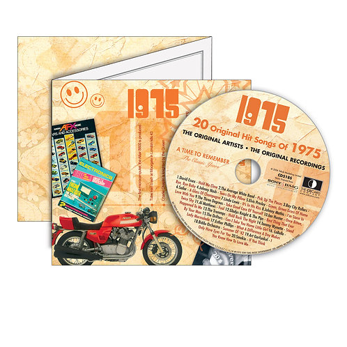 1975 Classic Years - Year Of Birth Music Downloads Greeting Card + Retro CD