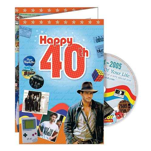 40th Birthday Greeting Card with DVD