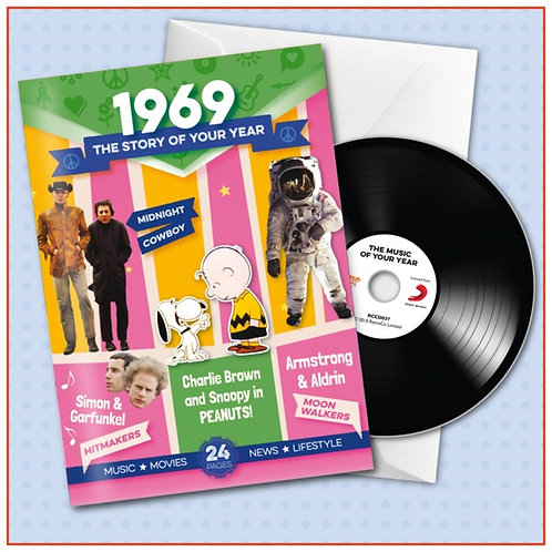 1969 Booklet Card with CD and music download