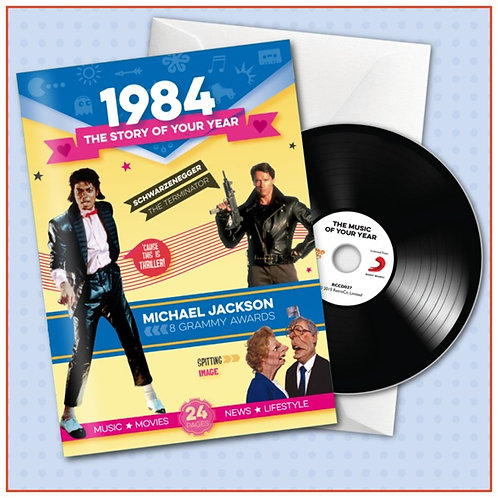 1984 Booklet Greeting Card with Hit Songs, Download Code and retro CD