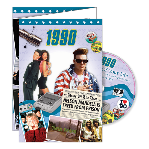 1990 The Time Of Your Life - Year Of Birth Greeting Card with DVD