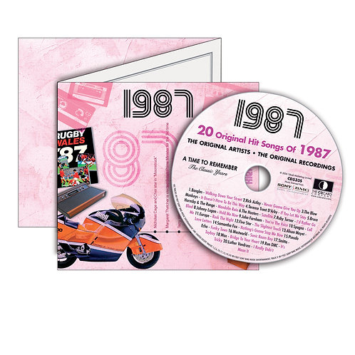 1987 Classic Years Greeting Card with Hit Songs, Download Code and retro CD